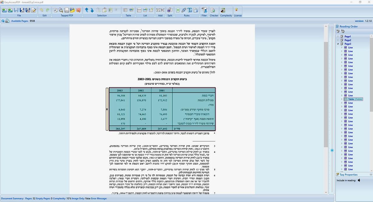 הנגשת מסמכי pdf